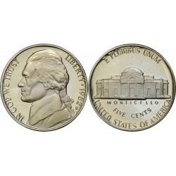 سکه 5 سنت - نیکل مس - آمریکا 1982 غیر بانکی