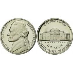 سکه 5 سنت - نیکل مس - آمریکا 1986 غیر بانکی