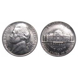 سکه 5 سنت - نیکل مس - آمریکا 1989 غیر بانکی