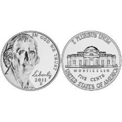 سکه 5 سنت - نیکل مس - آمریکا 2011 غیر بانکی