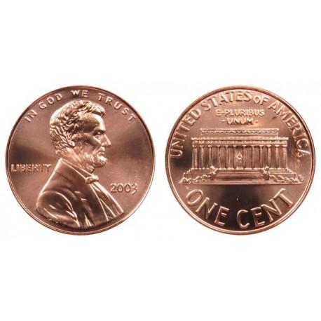 سکه 1 سنت - برنجی - آمریکا 2003 غیر بانکی