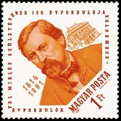 1 عدد تمبر صد و پنجاهمین سالروز تولد میکلوس ایبل - معمار - مجارستان 1964