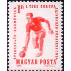 1 عدد تمبر مسابقات قهرمانی بولینگ اروپا - مجارستان 1964