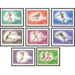 8 عدد تمبر مسابقات قهرمانی اروپا - بوداپست - مجارستان 1966 قیمت 6.4 دلار