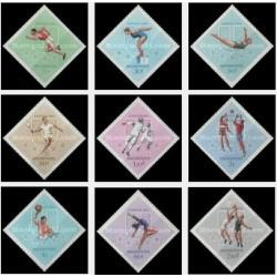 9 عدد تمبر ورزشی - مجارستان 1965 قیمت 4.5 دلار