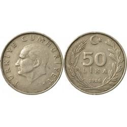 سکه 50 لیر - نیکل مس روی - ترکیه 1986 غیر بانکی