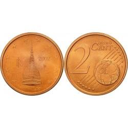 سکه 2 سنت یورو - مس روکش فولاد - ایتالیا 2002 غیر بانکی