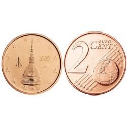 سکه 2 سنت یورو - مس روکش فولاد - ایتالیا 2009 غیر بانکی