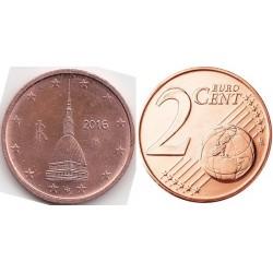 سکه 2 سنت یورو - مس روکش فولاد - ایتالیا 2016 غیر بانکی
