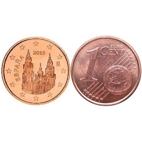 سکه 1 سنت یورو - مس روکش فولاد - اسپانیا 2017 غیر بانکی