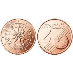 سکه 2 سنت یورو - مس روکش فولاد - اتریش 2002 غیر بانکی