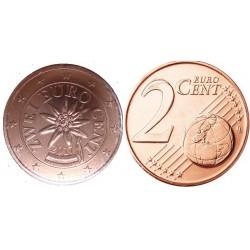 سکه 2 سنت یورو - مس روکش فولاد - اتریش 2017 غیر بانکی