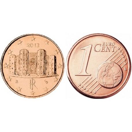 سکه 1 سنت یورو - مس روکش فولاد - ایتالیا 2013 غیر بانکی