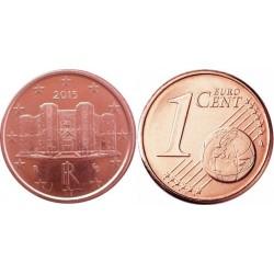 سکه 1 سنت یورو - مس روکش فولاد - ایتالیا 2015 غیر بانکی