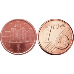سکه 1 سنت یورو - مس روکش فولاد - ایتالیا 2016 غیر بانکی