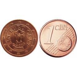 سکه 1 سنت یورو - مس روکش فولاد - اتریش 2013 غیر بانکی