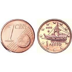 سکه 1 سنت یورو - مس روکش فولاد - یونان 2009 غیر بانکی