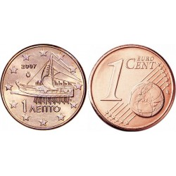 سکه 1 سنت یورو - مس روکش فولاد - یونان 2016 غیر بانکی