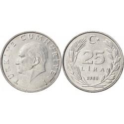 سکه 25 لیر - آلومینیوم  - ترکیه 1986 غیر بانکی