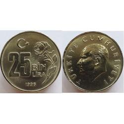 سکه 25000 لیر - مس نیکل روی  - ترکیه 1997 غیر بانکی