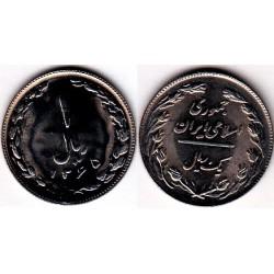 سکه 1 ریالی - نیکل کروم - تاریخ بسته - جمهوری اسلامی 1365 بانکی