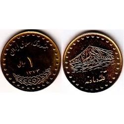 سکه 1 ریالی دماوند - برنز - جمهوری اسلامی 1373 بانکی