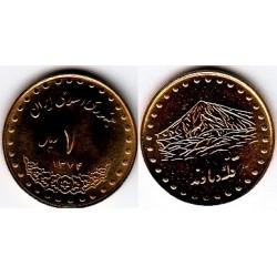 سکه 1 ریالی دماوند - برنز - جمهوری اسلامی 1374 بانکی