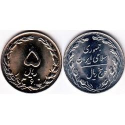 سکه 5 ریالی - نیکل کروم - جمهوری اسلامی 1360 بانکی