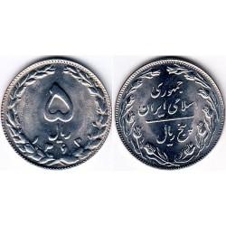 سکه 5 ریالی - نیکل کروم - جمهوری اسلامی 1363 بانکی