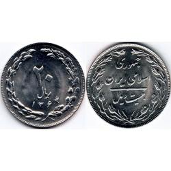 سکه 20 ریالی - نیکل کروم  - جمهوری اسلامی 1364 بانکی