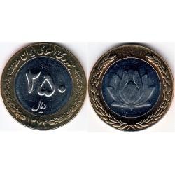 سکه 250 ریالی - نیکل برنز - بیمتال - جمهوری اسلامی 1374 بانکی