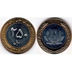 سکه 250 ریالی - نیکل برنز - بیمتال - جمهوری اسلامی 1376 بانکی