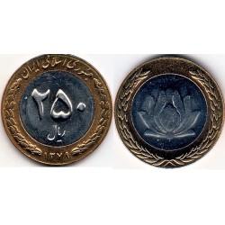 سکه 250 ریالی - نیکل برنز - بیمتال - جمهوری اسلامی 1380 بانکی