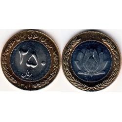سکه 250 ریالی - نیکل برنز - بیمتال - جمهوری اسلامی 1381 بانکی