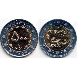 سکه  500 ریالی - نیکل برنز- بیمتال - جمهوری اسلامی 1385 بانکی
