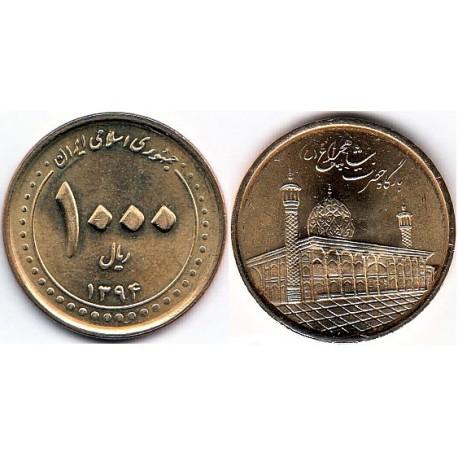 سکه  1000 ریالی - برنز - شاهچراغ -  جمهوری اسلامی 1394 بانکی