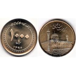 سکه  1000 ریالی - برنز - شاهچراغ -  جمهوری اسلامی 1396 بانکی