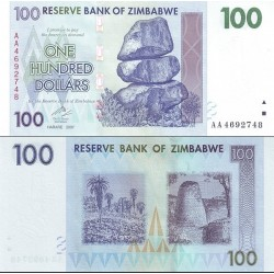 اسکناس 100 دلار - زیمباوه 2007