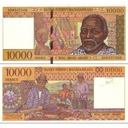 اسکناس 10000 فرانک - 2000 آریاری - ماداگاسکار 1995