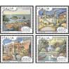 4 عدد تمبر تابلو نقاشی - تبلیغات توریست - ایتالیا 1986 قیمت 5.8 دلار