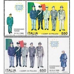 2 عدد تمبر کنفرانس پلیس اروپا با تب - ایتالیا 1986 قیمت 4.4 دلار