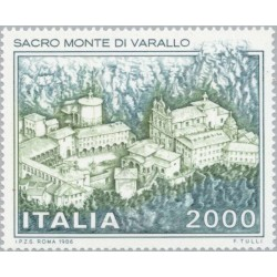 1 عدد تمبر صومعه ساکرومونت - ایتالیا 1986 قیمت 5.5 دلار