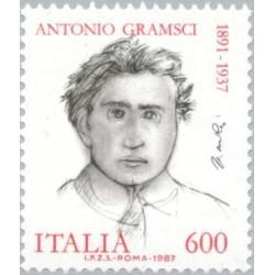 1 عدد تمبر 50مین سالگرد مرگ آنتونیو گرامسی- سیاستمدار مارکیست کمونیست - ایتالیا 1987