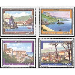 4 عدد تمبر تبلیعات توریست - تابلو نقاشی - ایتالیا 1987 قیمت 5.5 دلار