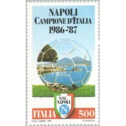 1 عدد تمبر باشگاه فوتبال ناپل - قهرمانان ملی - ایتالیا 1987 قیمت 4.4 دلار