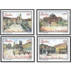 4 عدد تمبر مناظر شهری - تابلو نقاشی - ایتالیا 1987 قیمت 5.8 دلار