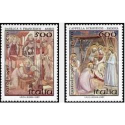 2 عدد تمبر کریستمس - ایتالیا 1987 قیمت 3.3 دلار