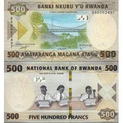 اسکناس 500 فرانک - رواندا 2019