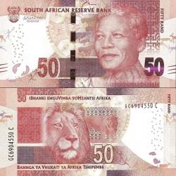 اسکناس 50 رند - تصویر نلسون ماندلا - آفریقای جنوبی 2016