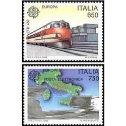 2 عدد تمبر مشترک اروپا - Europa Cept - حمل و نقل و ارتباطات - ایتالیا 1988 قیمت 5 دلار